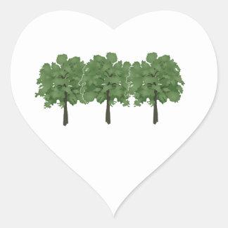 Natures Brush Heart Sticker