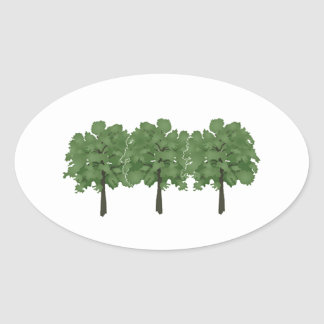 Natures Brush Oval Sticker