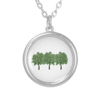 Natures Brush Silver Plated Necklace