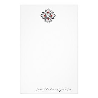 Nature's Compass: Ornate Aspen Tree Leaf Pattern Personalized Stationery