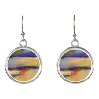Nature's Dichotomy Abstract Drop Earrings
