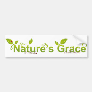 Nature's Grace with Ladybug Bumper Stickers