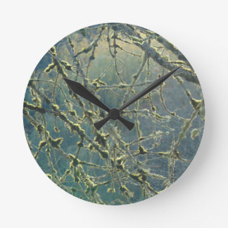 Nature's Lace Round Clock