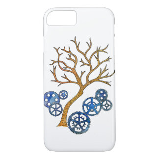 Nature's Machine Pen Drawing with Watercolors iPhone 7 Case