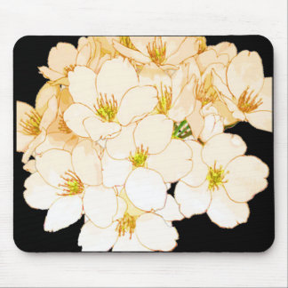 """""""Nature's Own"""" Flowers All Year* Pale Peach Mouse Pad"""