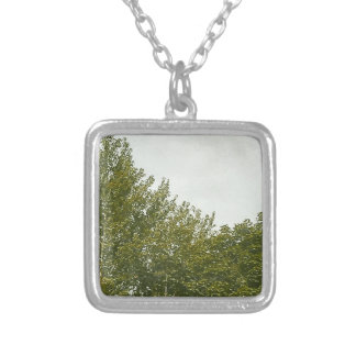 Natures Painting Square Pendant Necklace