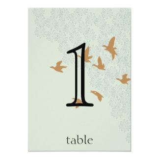 Natures Splendor on Ecru Anniversary Table Number 13 Cm X 18 Cm Invitation Card