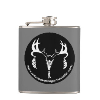 Nature's Voice Game Calls Logo Hip Flask