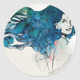 Naturess Design 5 Round Sticker