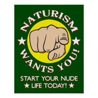 Naturism Recruitment Poster