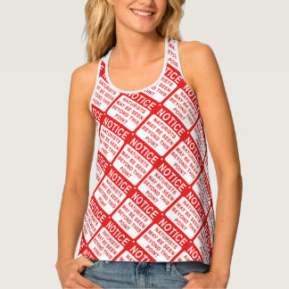 Naturist Beach Sign Print Tank Top