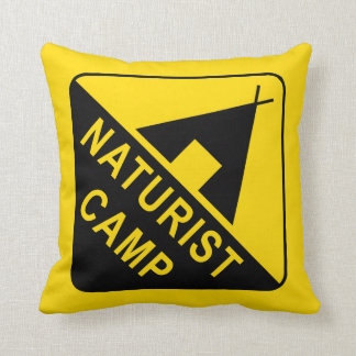 Naturist / Nudist Throw Pillow