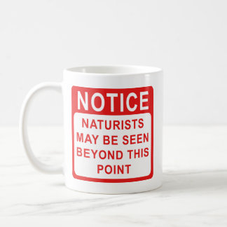Naturists, Naturist Beach Sign Mug