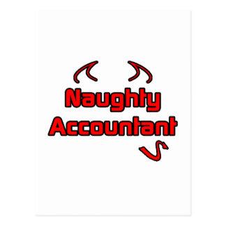 Naughty Accountant Postcard