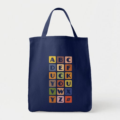 Naughty Alphabets bag – choose style & color
