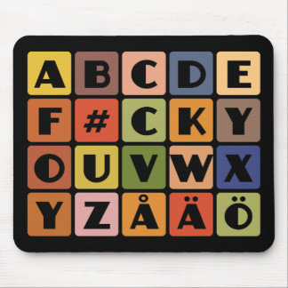 Naughty Alphabets mousepad