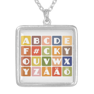 Naughty Alphabets necklace