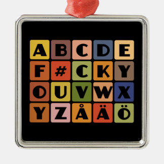 Naughty Alphabets ornament