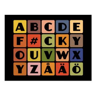 Naughty Alphabets postcard