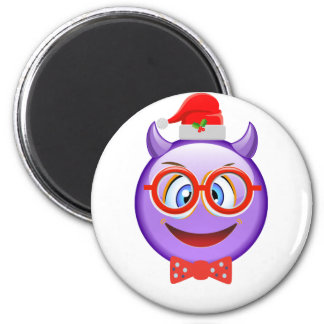 Naughty and Geeky at Christmas Emoji Magnet