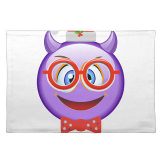Naughty and Geeky at Christmas Emoji Placemat