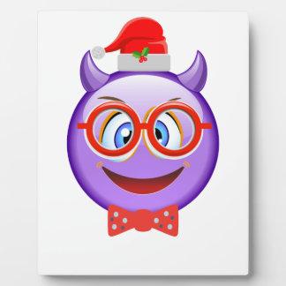 Naughty and Geeky at Christmas Emoji Plaque