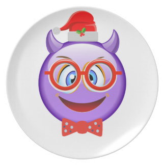 Naughty and Geeky at Christmas Emoji Plate