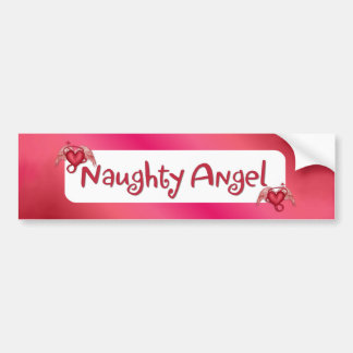 Naughty Angel Bumper Sticker