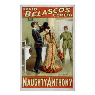 """Naughty Anthony"" Vintage Theater Poster"