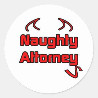 Naughty Attorney Stickers