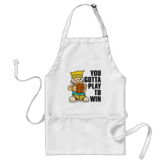 Naughty Boy Basket Ball Standard Apron
