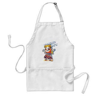naughty boy cartoon style illustration standard apron