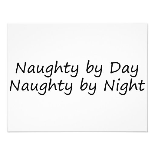 Naughty By Day Naughty By Night Custom Announcement