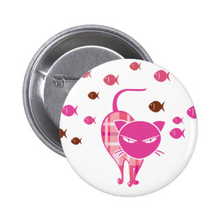 Naughty Cat Pinback Button