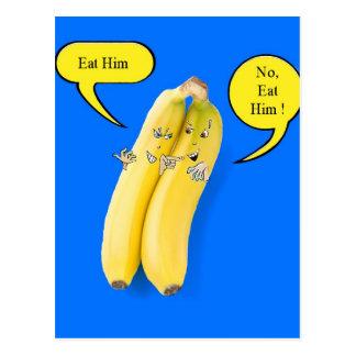 Naughty Cheeky Bananas Bright Bold Cartoon Humour Postcard