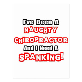 Naughty Chiropractor...Need a Spanking Postcard