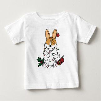 Naughty Christmas Corgi Baby T-Shirt