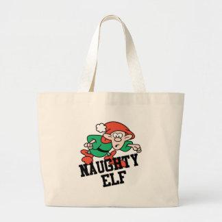 Naughty Christmas Elf Tote Bag