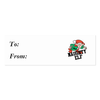 Naughty Christmas Elf Pack Of Skinny Business Cards