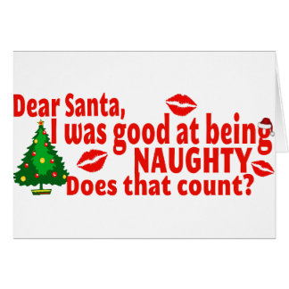 Naughty Christmas Greeting Card