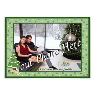 Naughty Christmas Tree Kitty Cat 13 Cm X 18 Cm Invitation Card