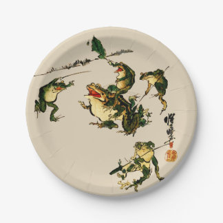 Naughty Frogs 7 Inch Paper Plate