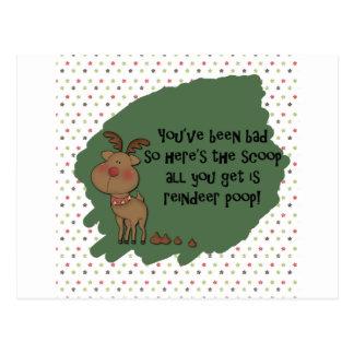 Naughty Funny Christmas Reindeer Poop Card