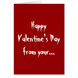 Naughty Girl Happy Valentine's Day Greetings Card