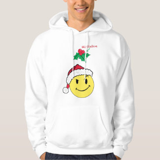 Naughty Happy Face and Mistletoe Hoodie Design