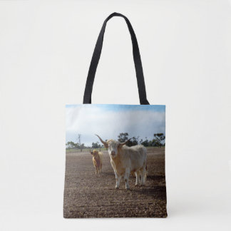 Naughty Highland Cows, Tote Shopping Bag.