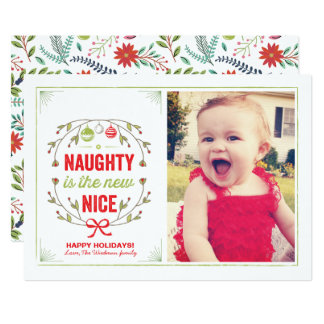 Naughty is the New Nice Holiday Christmas Cards