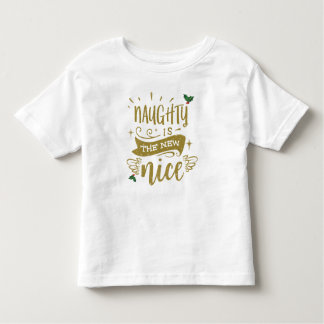 naughty is the new nice toddler t shirt xmas