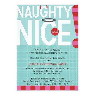 Naughty & Nice 13 Cm X 18 Cm Invitation Card