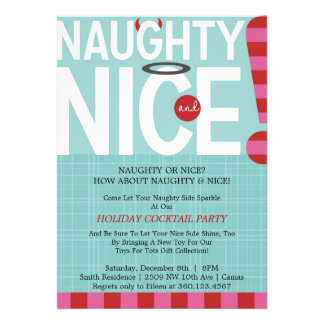 Naughty Nice Personalized Announcement